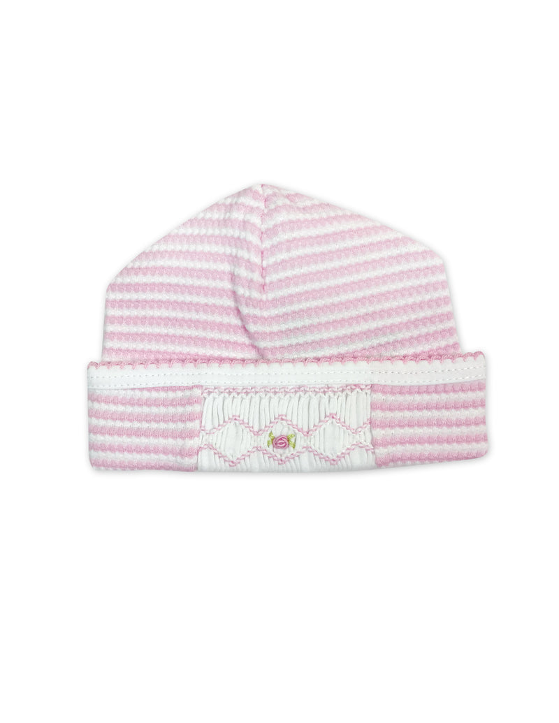 Baby Girl's Pink and White Striped Hat - Little Threads Inc. Children's Clothing
