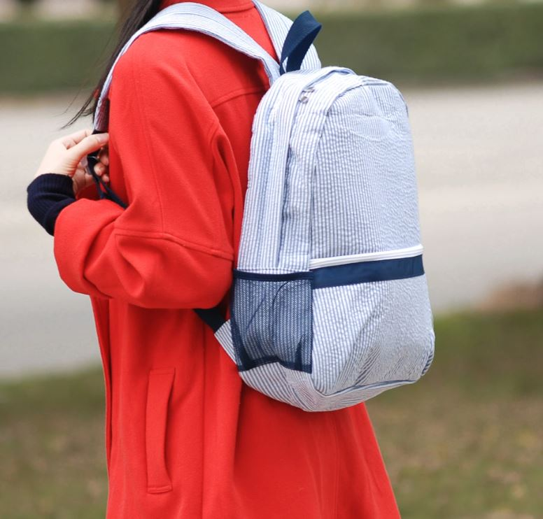 Navy Girls Back Pack - Little Threads Inc. Children's Clothing
