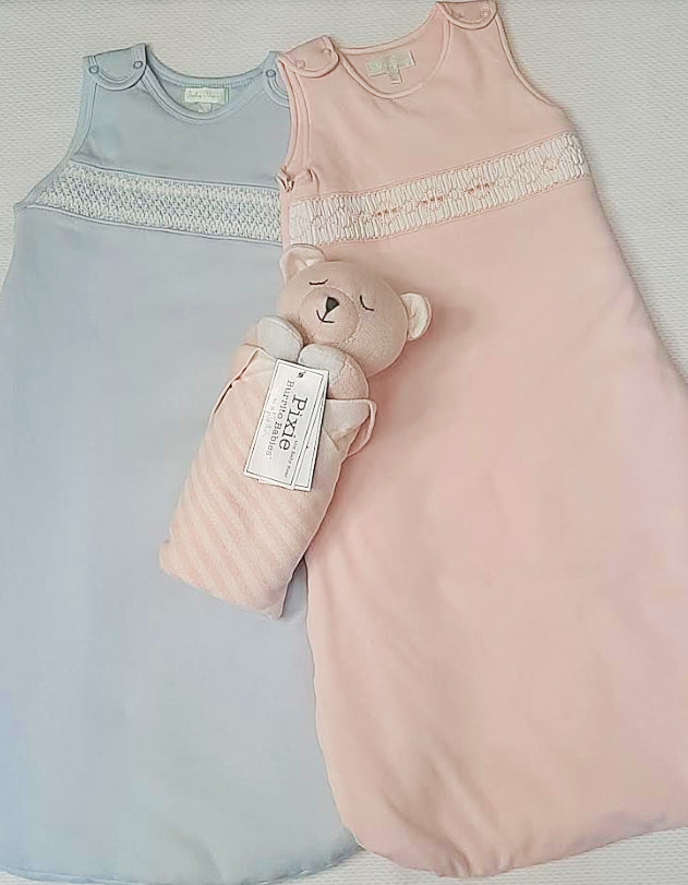 Pink Smocked Baby Sleeping Sack - Little Threads Inc. Children's Clothing