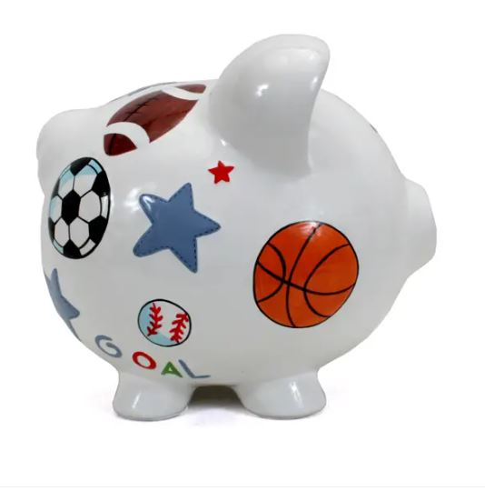 Sport Pork Pig Bank - Little Threads Inc. Children's Clothing