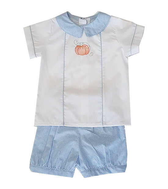Pumpkin boy's short set - Little Threads Inc. Children's Clothing