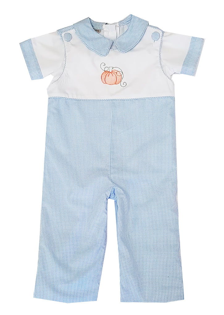 Pumpkin Boy's overall set - Little Threads Inc. Children's Clothing