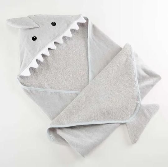 Shark baby  hooded towel - Little Threads Inc. Children's Clothing