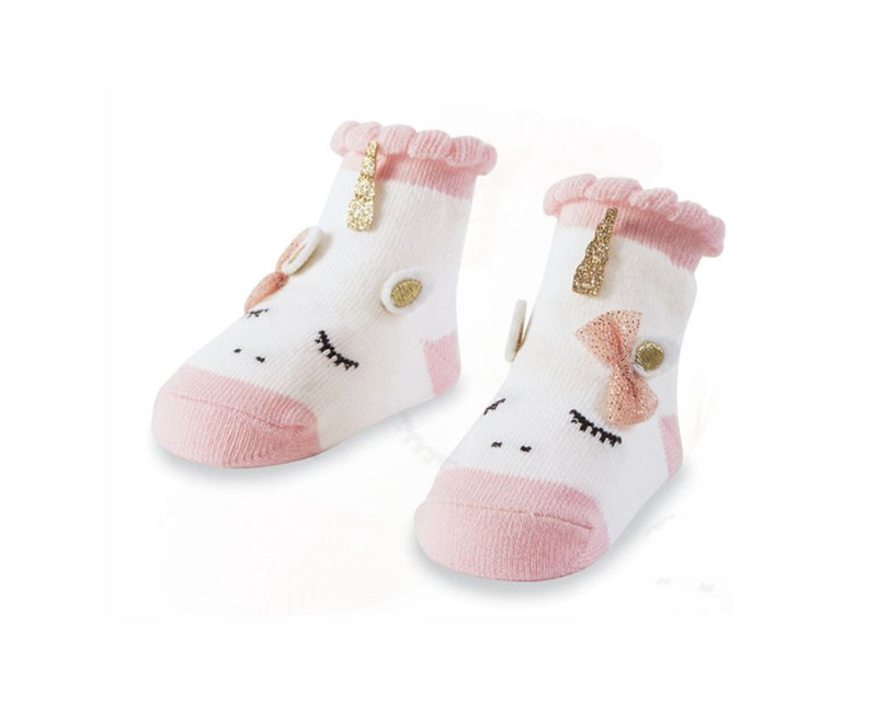 Unicorn Baby Girl Socks - Little Threads Inc. Children's Clothing