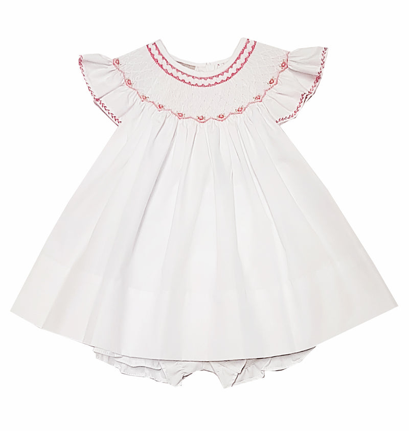 Heirloom Hand Smocked Bishop Dress Set - Little Threads Inc. Children's Clothing