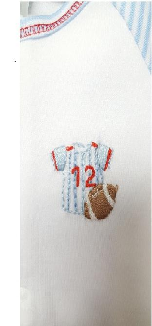 Little Threads Football Baby Threads Pima Cotton Precious Baby Boy's  2 PC Set