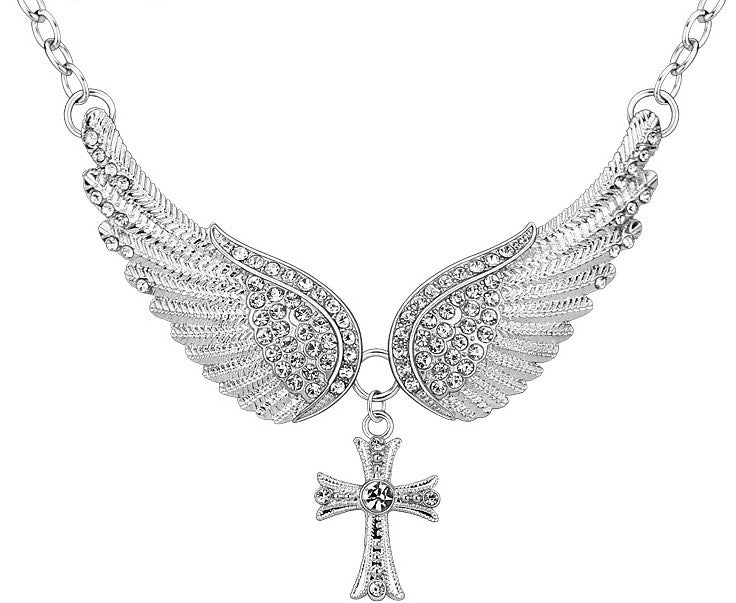 Choker Necklace Angel Wings