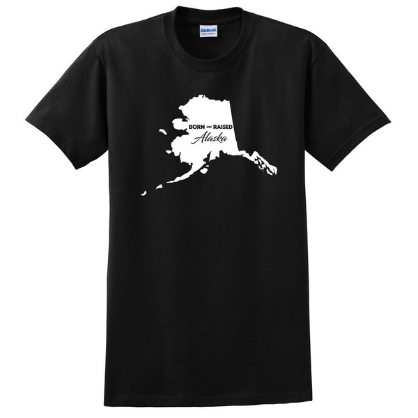 Born and Raised Alaska T Shirt