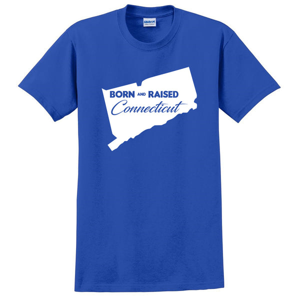 Born and Raised Connecticut T Shirt