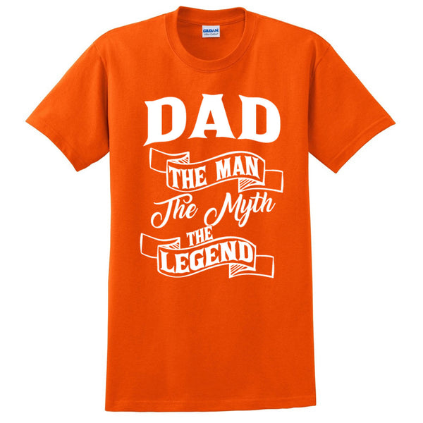 Dad the man the myth the legend t shirt birthday father's day Christmas xmas gift ideas for him
