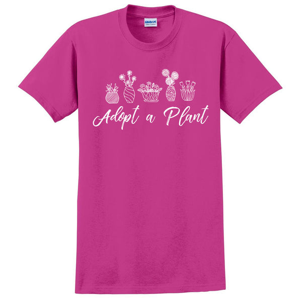 Adopt a plant t shirt funny tee cool shirt plant lover gift birthday present for her for him