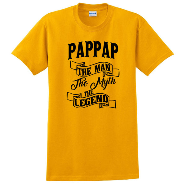 Pappap the man the myth the legend t shirt birthday father's day Christmas xmas gift ideas for him