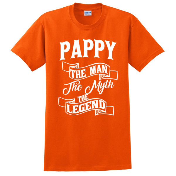 Pappy the man the myth the legend t shirt birthday father's day Christmas xmas gift ideas for him
