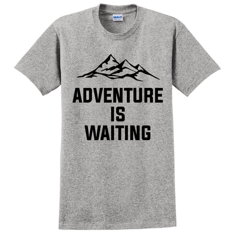 Adventure is waiting t shirt travel vacation shirt for her for him cool funny joke outfit