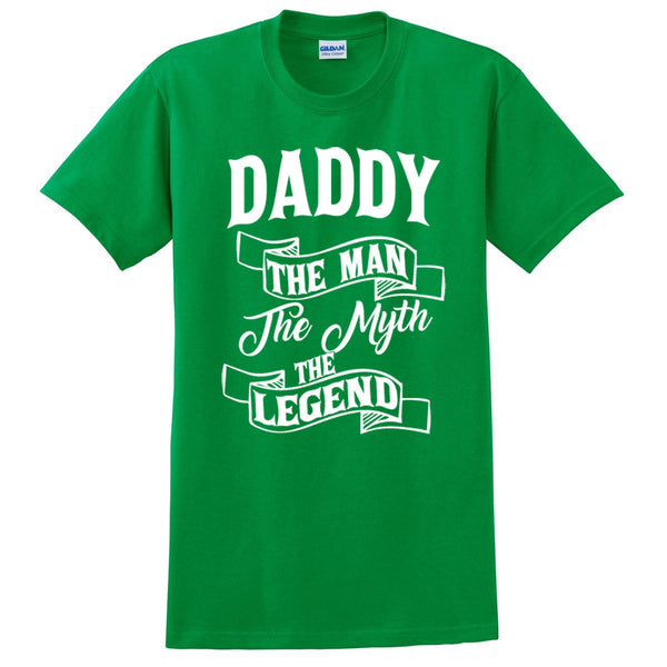 Daddy the man the myth the legend t shirt birthday father's day Christmas xmas gift ideas for him