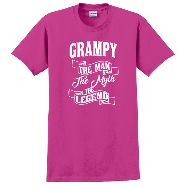 Grampy the man the myth the legend t shirt birthday father's day Christmas xmas gift ideas for him