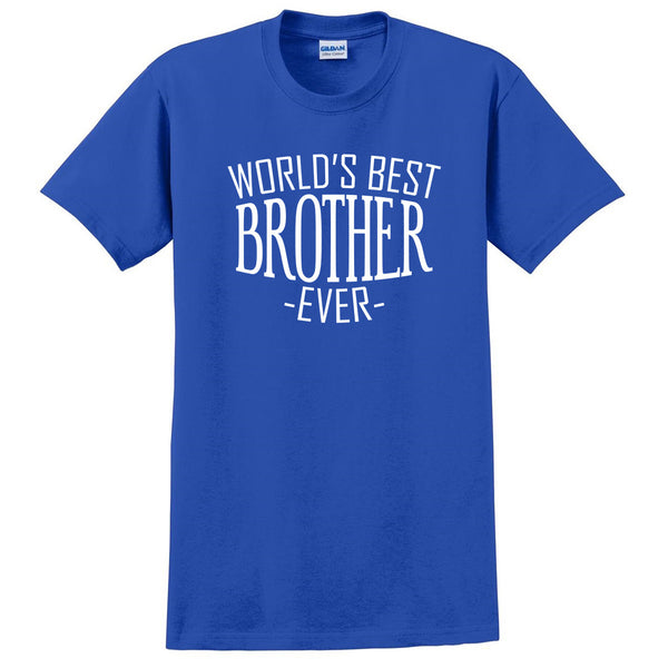 World's best brother ever t shirt  for him bro brother  christmas holiday gift ideas