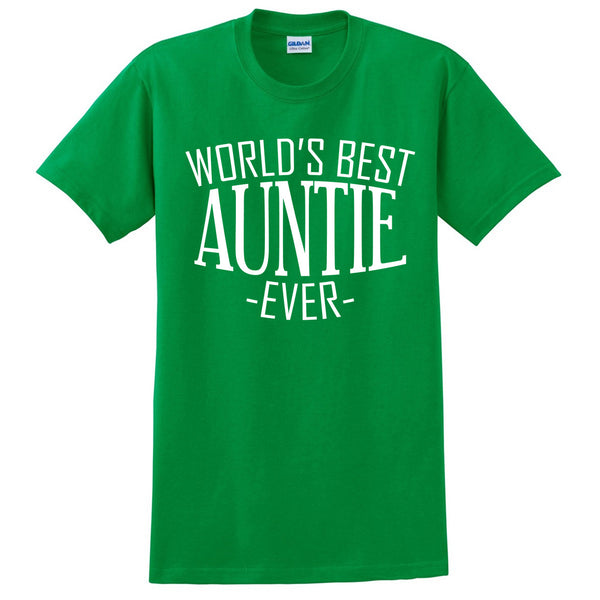 World's best auntie ever t shirt birthday christmas holiday gift ideas for best antie aunt for her
