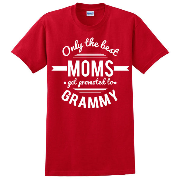 Only the best moms get promoted to grammy t shirt mother's day announcement family grandparents to be gift ideas for her