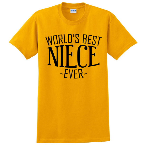 World's best niece ever t shirt  birthday christmas holiday gift ideas for best niece for her