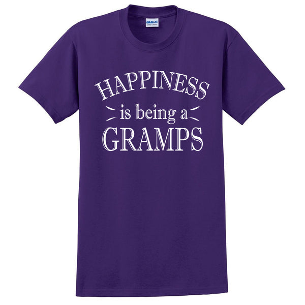 Happiness is being a gramps t shirt birthday Christmas xmas father's day gift ideas for grandpa grandfather