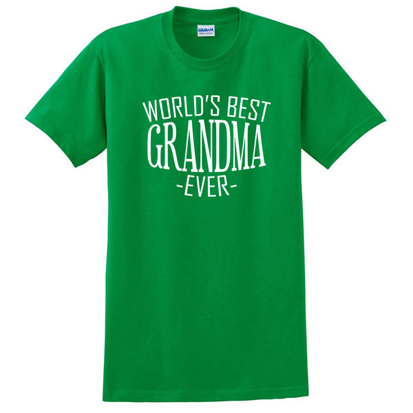 World's best grandma ever t shirt family mother's day birthday christmas holiday gift ideas  best grandmother