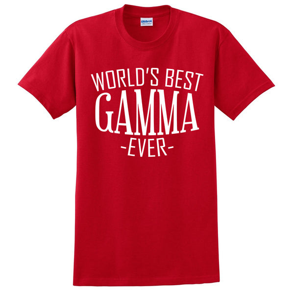 World's best gamma ever t shirt family mother's day birthday christmas holiday gift ideas  best grandma  grandmother