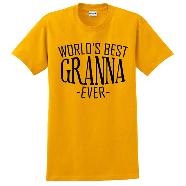 World's best granna ever t shirt family mother's day birthday christmas holiday gift ideas  best grandma  grandmother