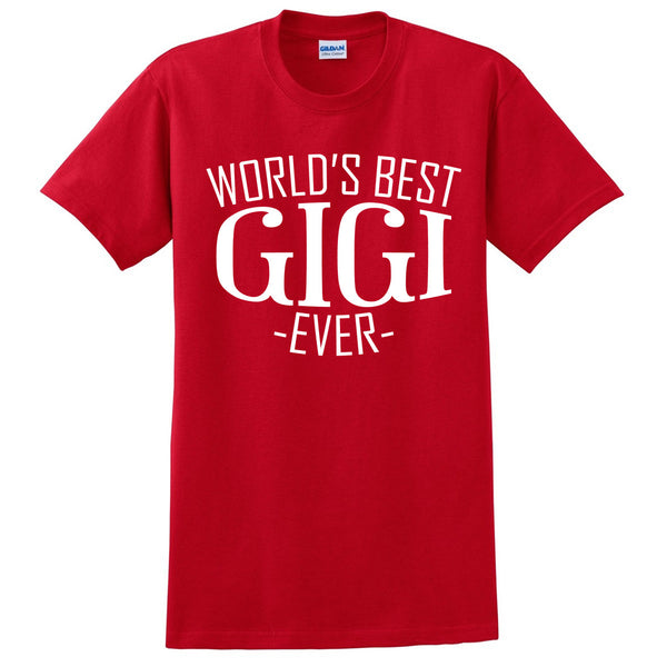 World's best gigi ever t shirt family mother's day  birthday christmas holiday gift ideas  best grandma  grandmother