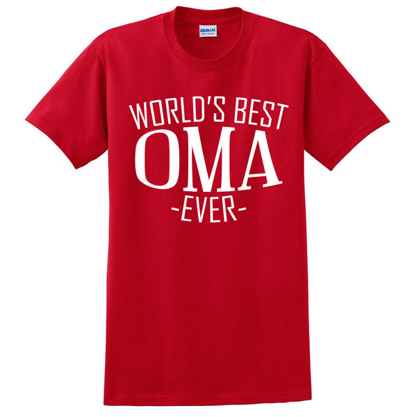 World's best oma ever t shirt family mother's day birthday christmas holiday gift ideas  best grandma  grandmother