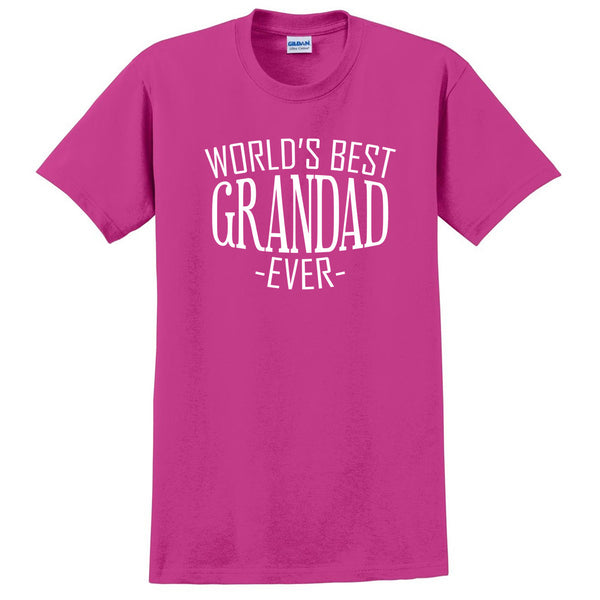 World's best grandad ever t shirt family birthday father's day christmas holiday gift ideas  best grandpa  grandfather
