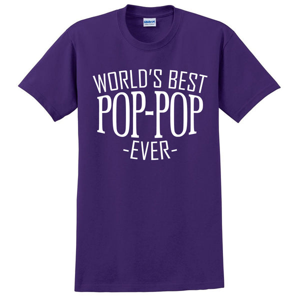 World's best pop pop ever t shirt family father's day birthday christmas holiday gift ideas  best grandpa  grandfather
