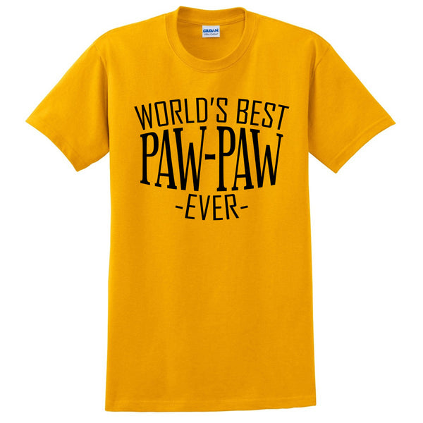 World's best paw paw ever t shirt family father's day birthday christmas holiday gift ideas  best grandpa  grandfather