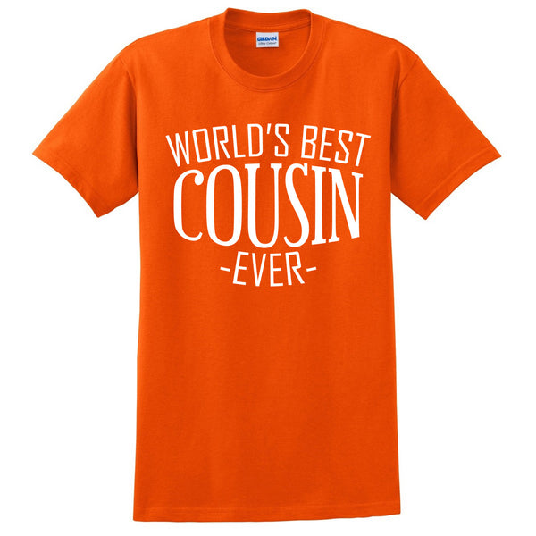 World's best cousin ever t shirt  birthday christmas holiday gift ideas for best cousin for him