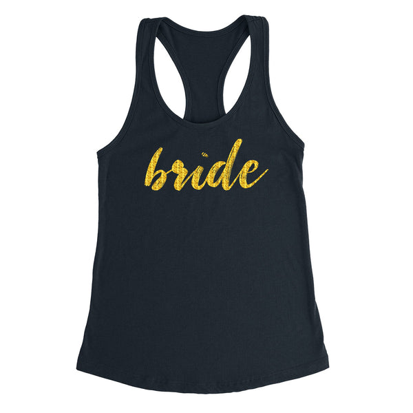 Bride tank, bride tank top, bachelorette party, bridal party Ladies Racerback Tank Top