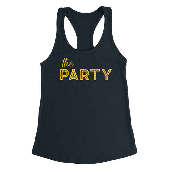 The party tank top, bridesmaid gift, bridal party set, bachelorette Ladies Racerback Tank Top