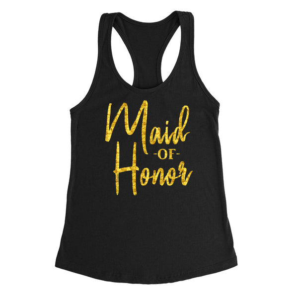 Maid of honor tank top, babe of honor tank, bachelorette  Ladies Racerback Tank Top