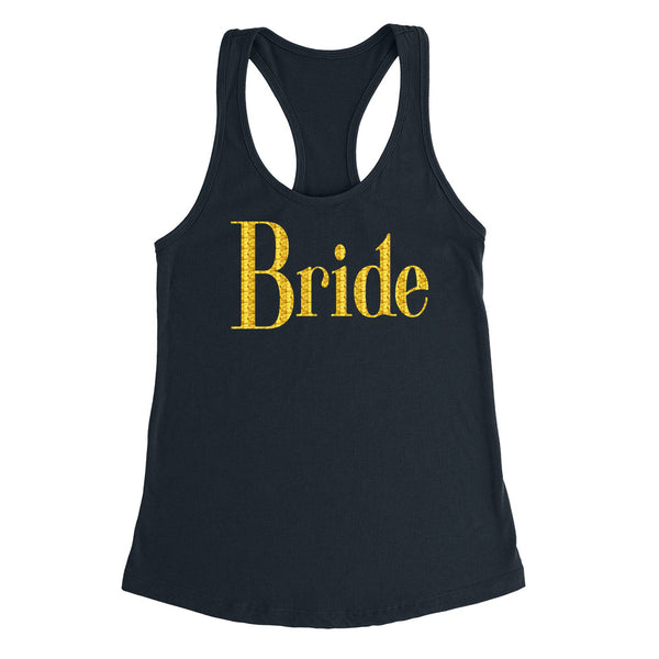 Bride tank top, bride tank tops, bachelorette party ideas, bride Ladies Racerback Tank Top