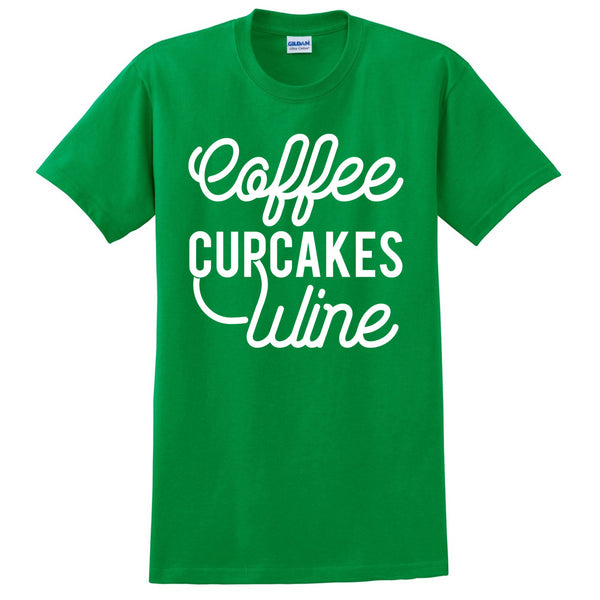 Coffee cupcakes wine T Shirt