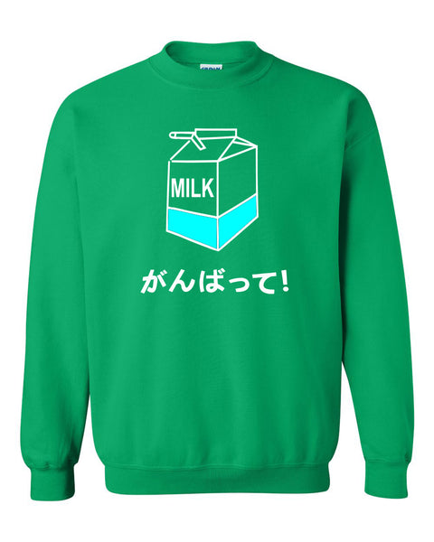 Harajuku milk box Crewneck Sweatshirt