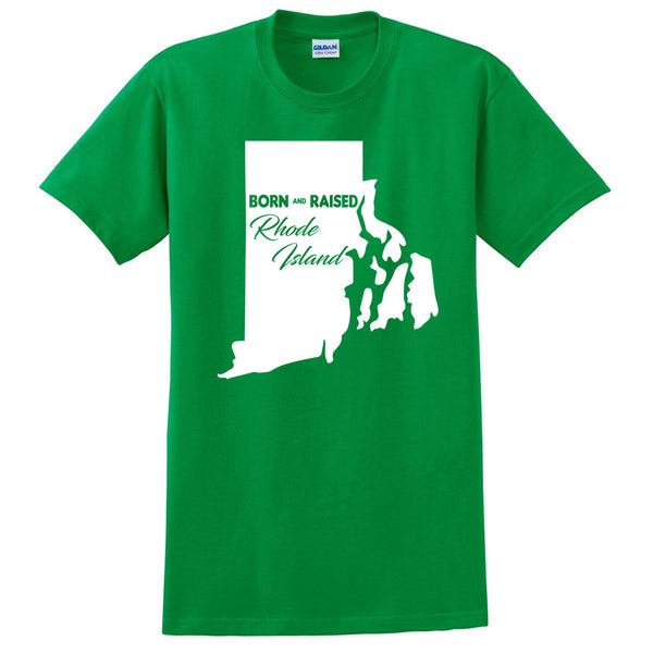 Born and Raised Rhode Island T Shirt