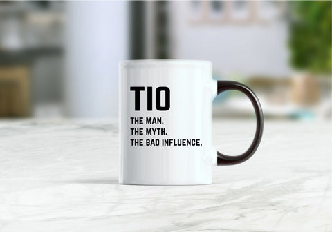 Tio the man the myth the bad influence coffee mug