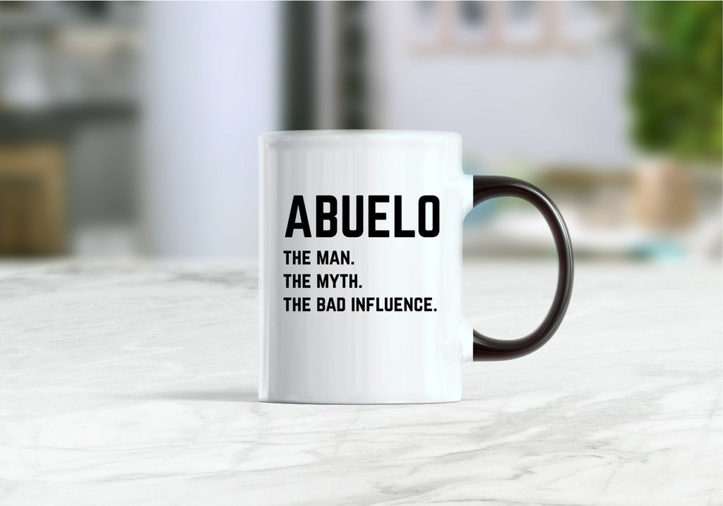 Abuelo the man the myth the bad influence coffee mug