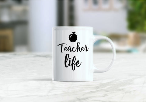 Teacher life coffee mug