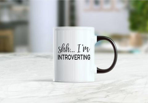 Shh I'm introverting coffee mug