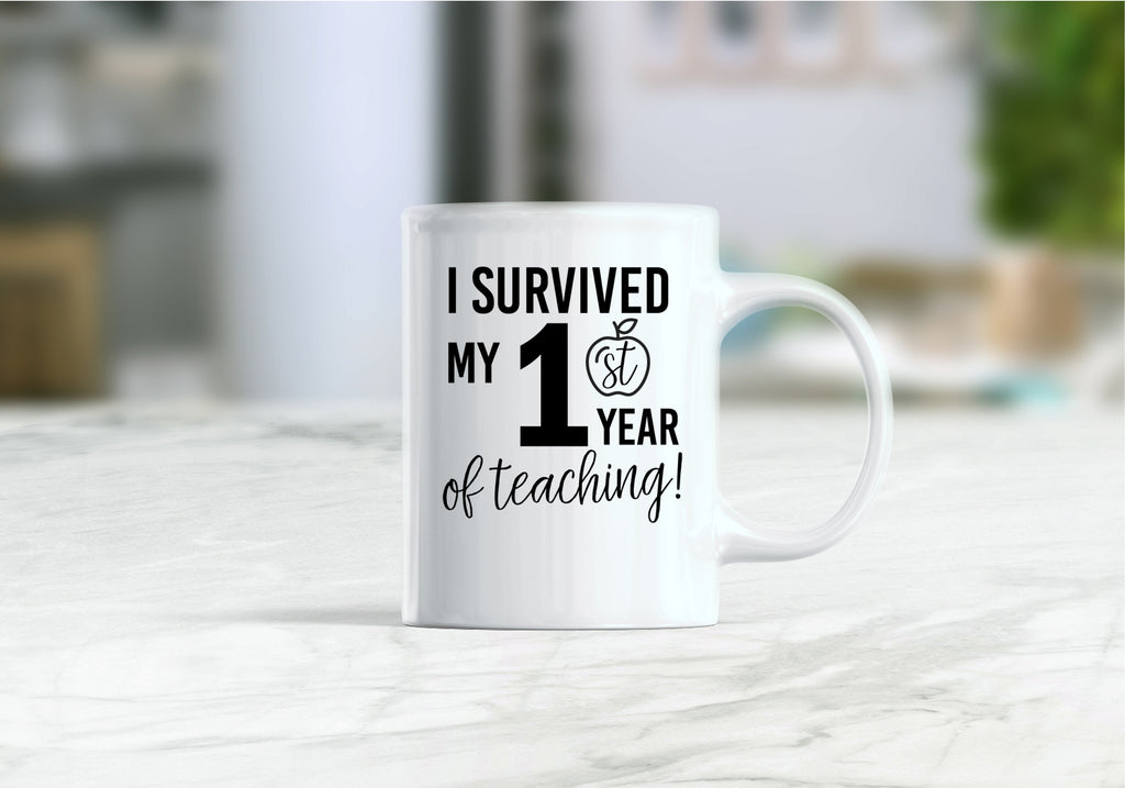 I survived my first year of teaching coffee mug