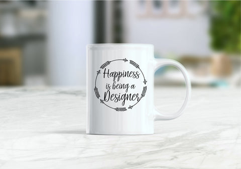 Happiness is being a designer coffee mug