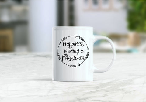 Happiness is being a physician coffee mug