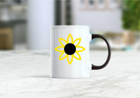 Flower, sunflower coffee mug