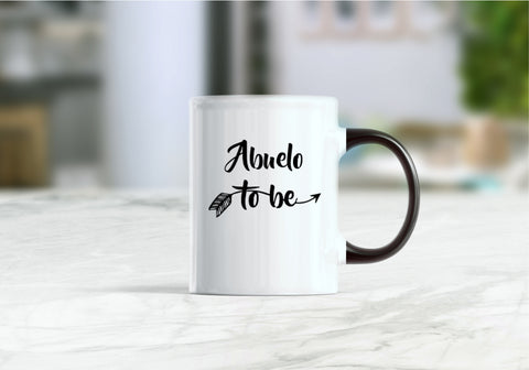 Abuelo to be mug, pregnancy announcement, new abuelo mug, promoted to abuelo coffee mug